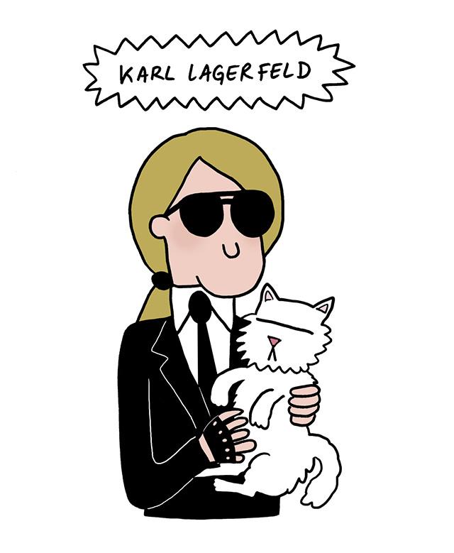Карл Лагерфельд станет мультипликационным персонажем