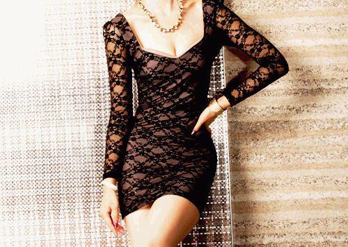 3d0d2f58f6c Как и с чем носить черное кружевное платье