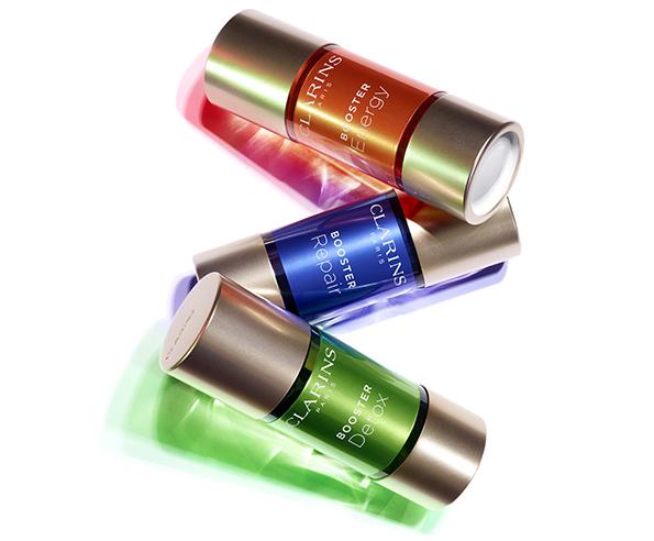 Спустя 10 лет разработок Clarins представляют бустеры: Booster Energy, Booster Repair, Booster Detox