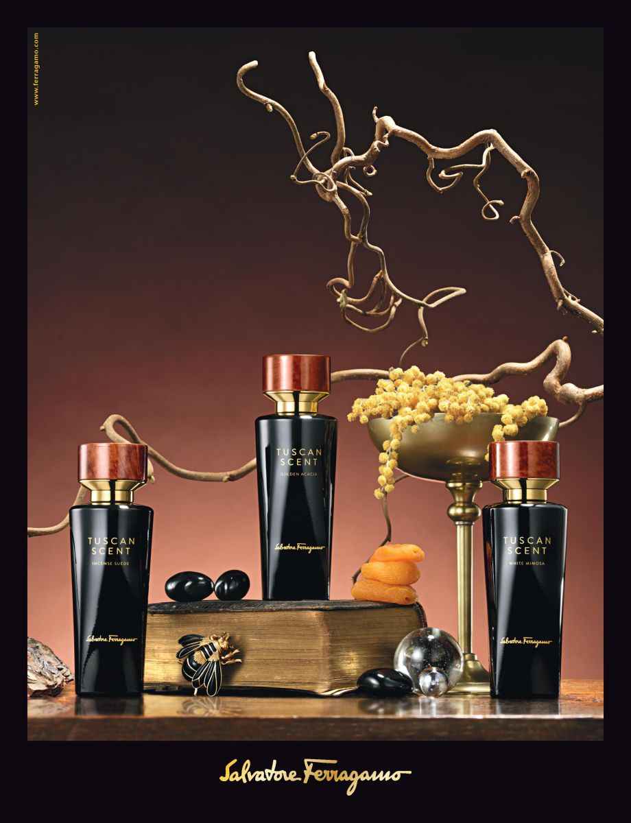 Тосканское трио: ароматы White Mimosa, Golden Acacia и Incense Suede от Salvatore Ferragamo