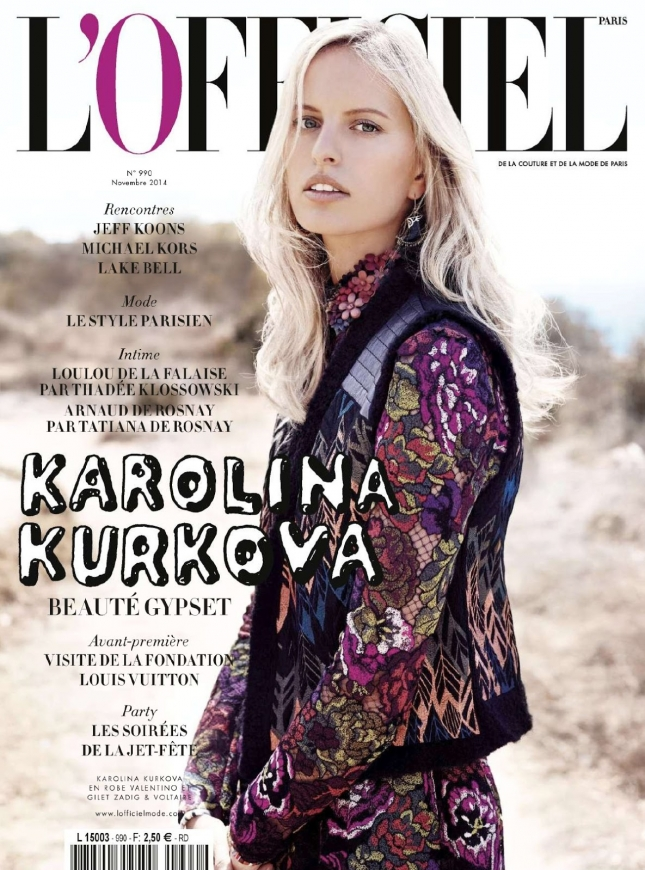 Каролина Куркова появилась на обложке французского глянца