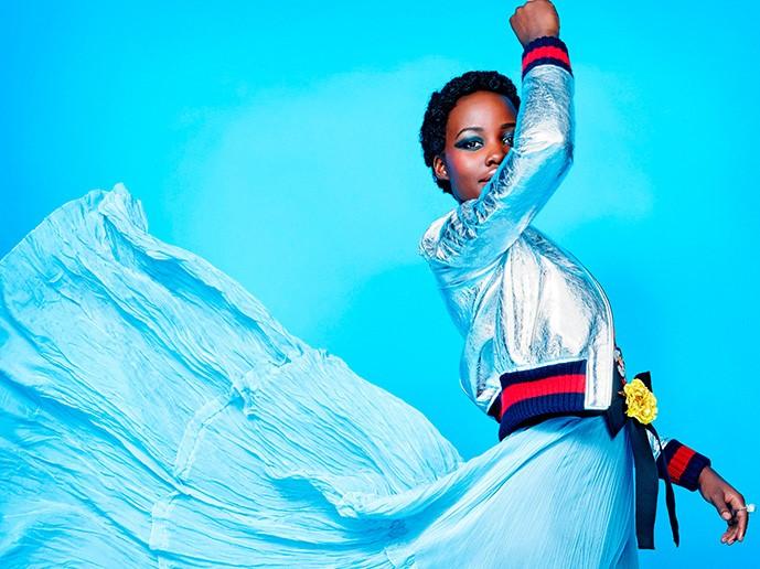 Взрыв красок: невероятно яркая фотосессия Люпиты Нионго для журнала Madame Figaro