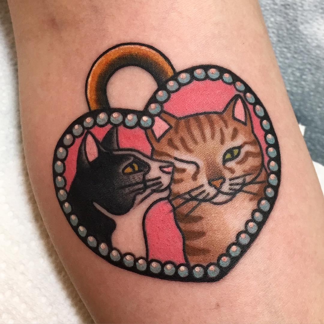 Мур-мяу: самые милые татуировки с котами фото