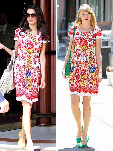 Битва платьев: Амаль Клуни против Тейлор Свифт