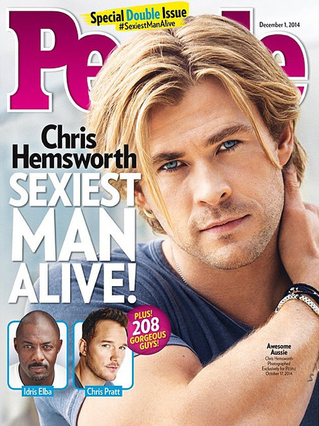 Крис Хемсворт самый сексуальный мужчина
