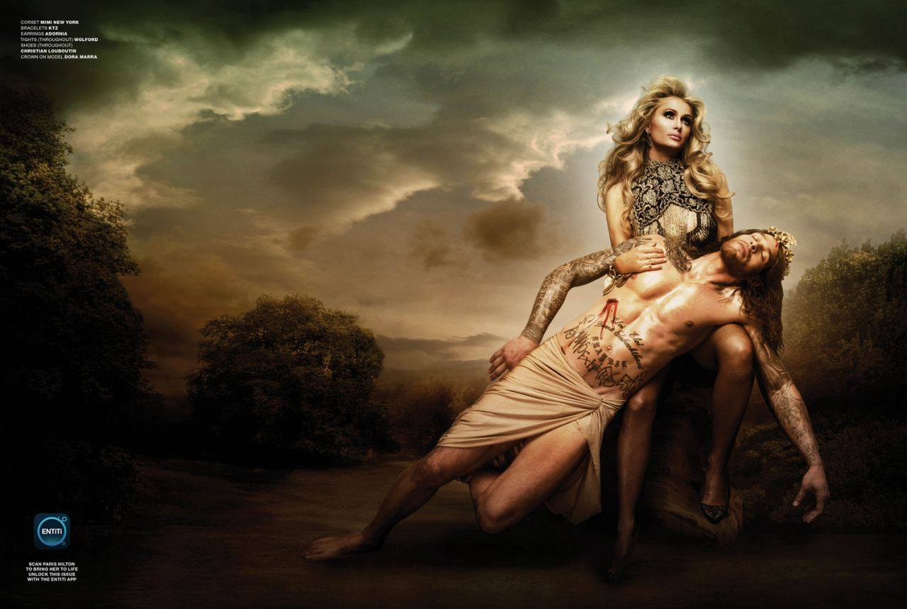 """""""Побойся Бога"""": религиозный образ Пэрис Хилтон в съемке в съемке для глянцевого журнала Adorn"""