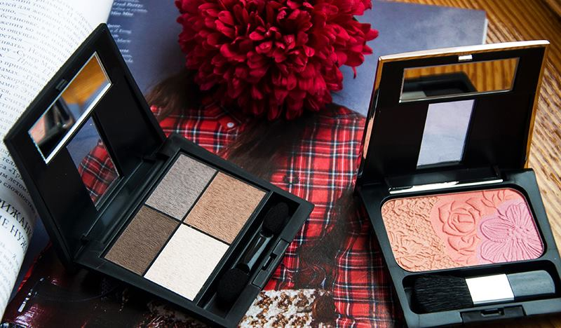 Макияж в осенних тонах с косметикой Make Up Factory