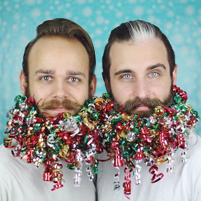 В лесу родилась борода: как мужчины украшают свою бороду к Новому году 2016
