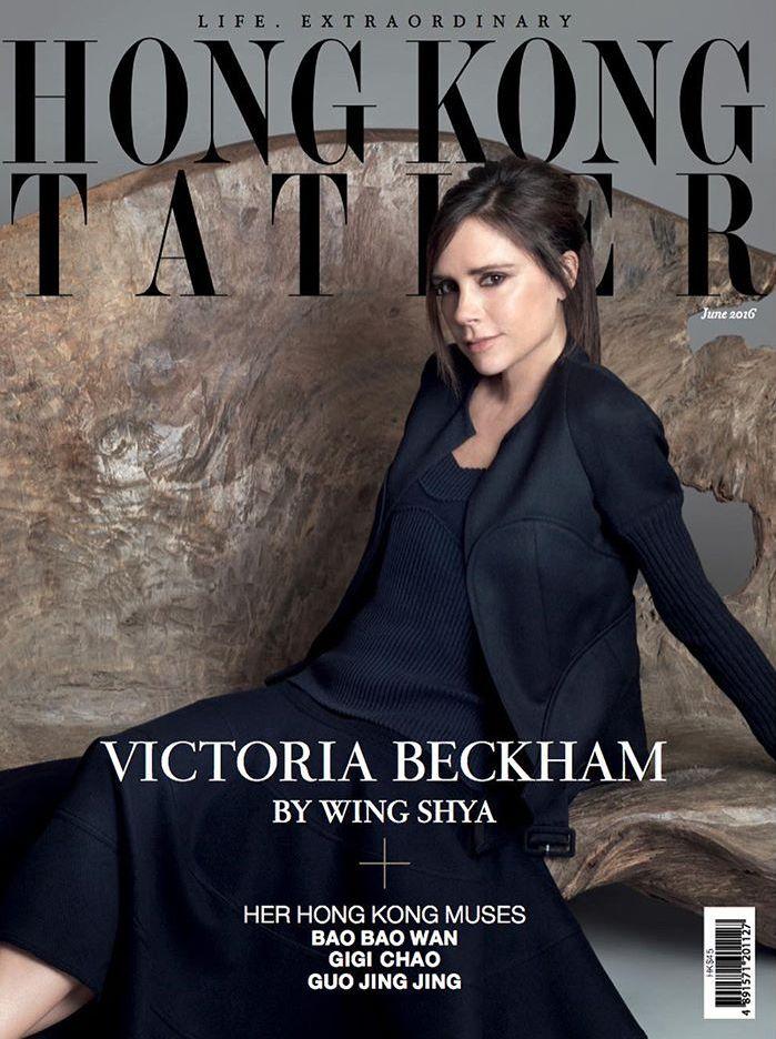 Виктория Бекхэм для Hong Kong Tatler улыбается фото