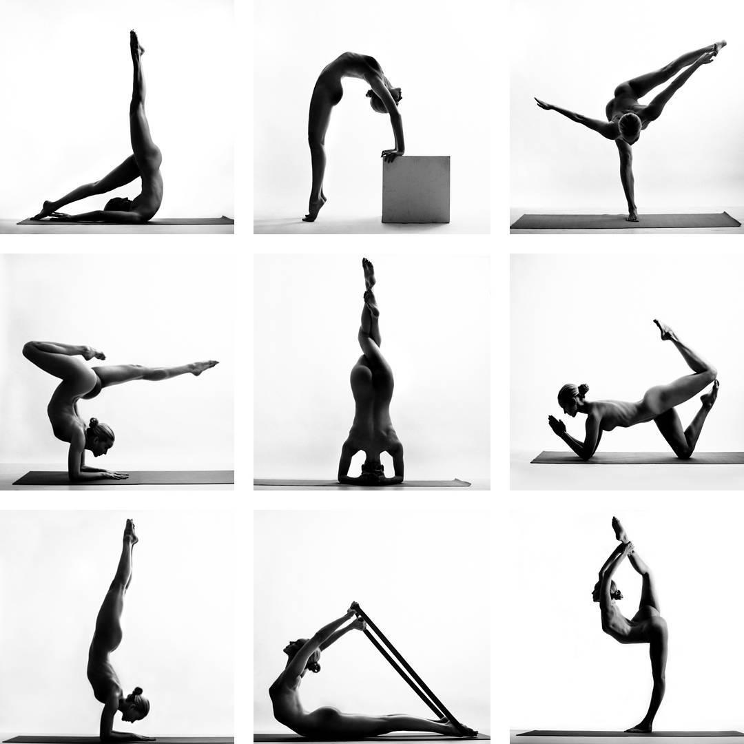 Искусство тела: голая девушка Nude Yoga Girl снялась в видео