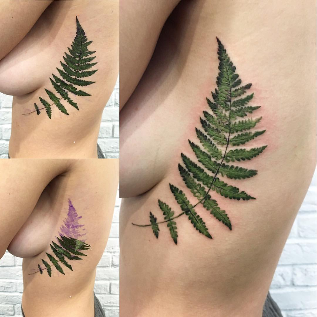 Ботаника: украинский мастер Рит Кит создает потрясающие акварельные татуировки