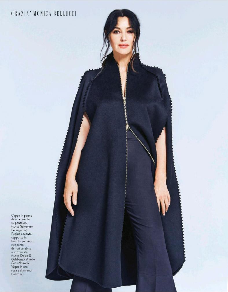 Моника Белуччи позирует в потрясающих нарядах для глянца Grazia (ФОТО)