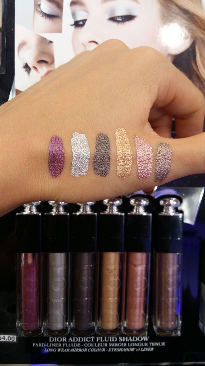 Dior Addict Fluid Shadow свотчи