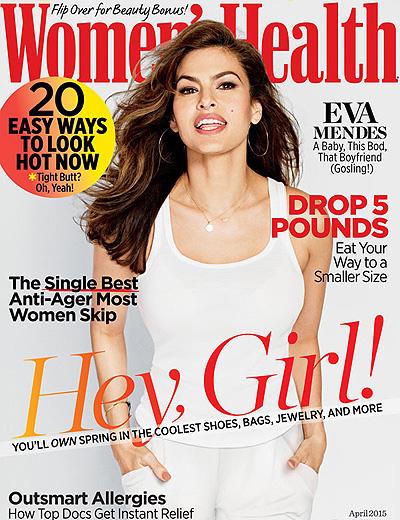 Молодая мамочка Ева Мендес украсила обложку и страницы апрельского выпуска журнала издания Women's Health.