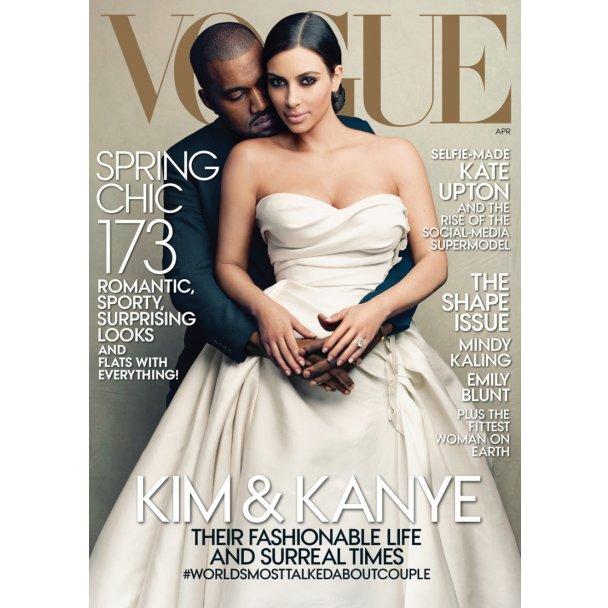 Ким Кардашьян и Кэни Уэст для Vogue