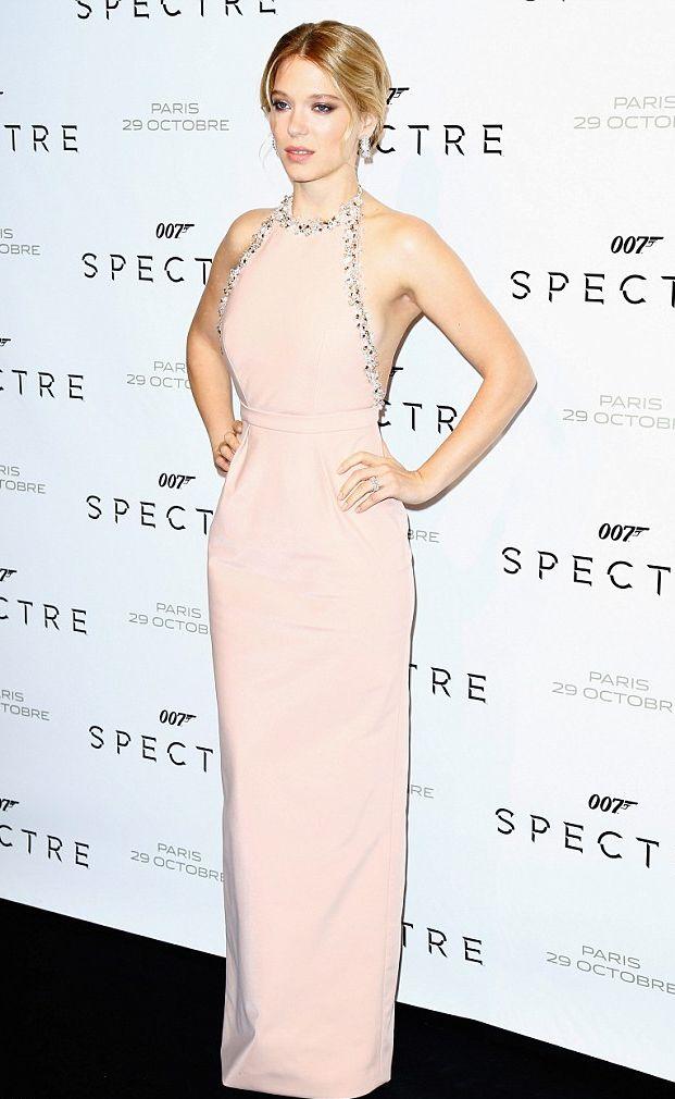 "Ла мур де труа: Дэниел Крейг, Моника Беллуччи и Леа Сейду на премьере ""007: Спектр"" в Париже"