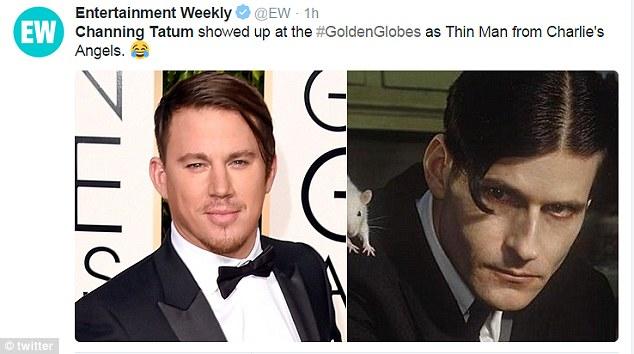 """Прическа Ченнинга Татума на """"Золотом глобусе"""" стала главной темой мемов"""