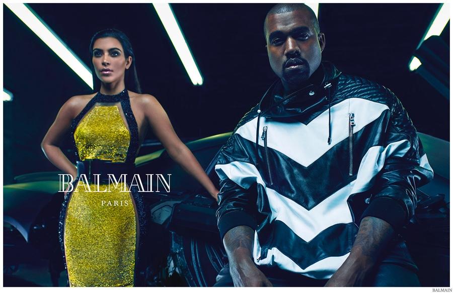 Ким Кардашьян и Канье Уэст в новой, сексуальной фотосессии для Balmain