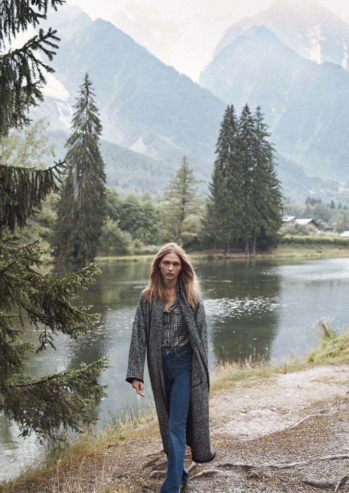 Девочка и горы: Саша Пивоварова, Монблан и волки в новом лукбуке Mango