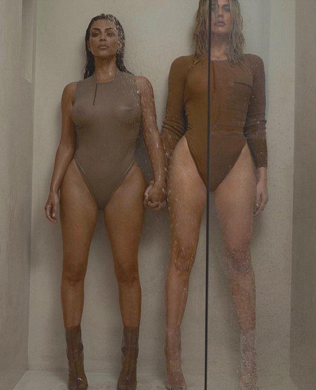 Ким Кардашьян снялась с сестрой в провокационном фотосете для рекламы новой коллекции мужа (ФОТО)