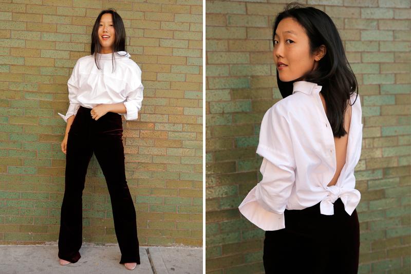 Наденьте это немедленно: тренд от западных модниц - рубашка, надетая задом наперед