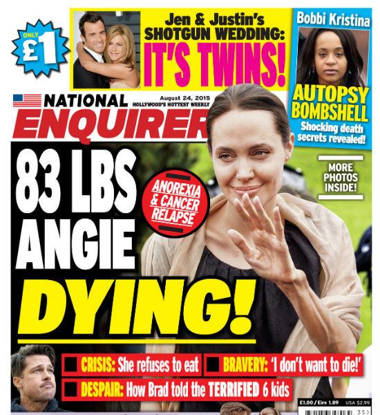 Шок! Анджелина Джоли весит 37 кг!