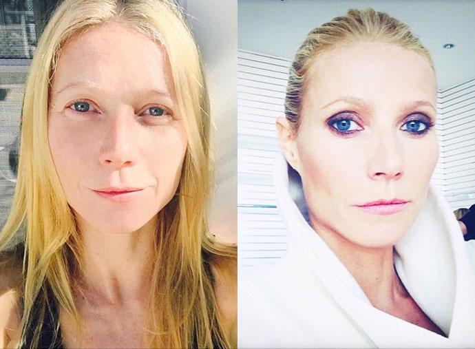 До и после макияжа: настоящее лицо Гвинет Пэлтроу