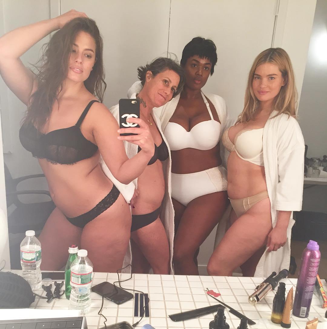 Самая популярная plus-size модель Эшли Грэм делится своими секретами красоты  фото