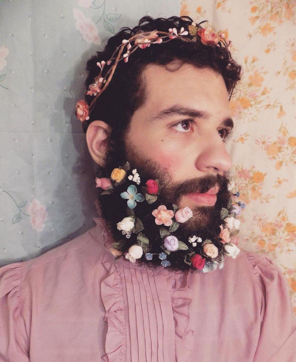 Кругом весна: цветочные бороды стали хитом Instagram фото