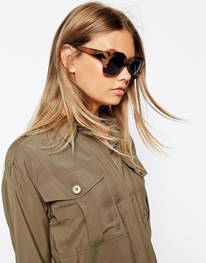 Солнцезащитные очки oversize с деревянным принтом на оправе от ASOS