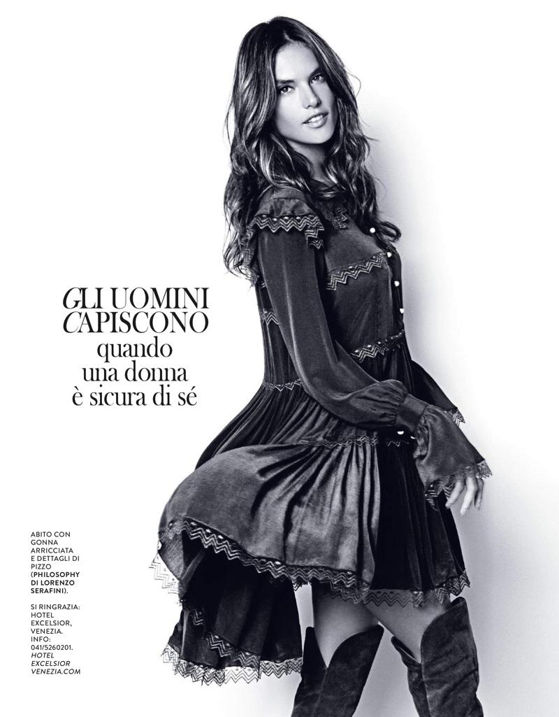 Жаркий ноябрь: Алессандра Амбросио в фотосессии для свежего номера Grazia Italy