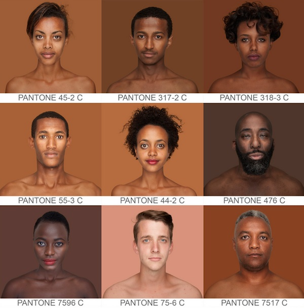 Человек и пантон: фотограф составляет полный каталог оттенков человеческой кожи