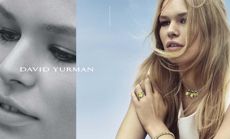Дама в бирюзе: Кейт Мосс рекламирует роскошные украшения David Yurman