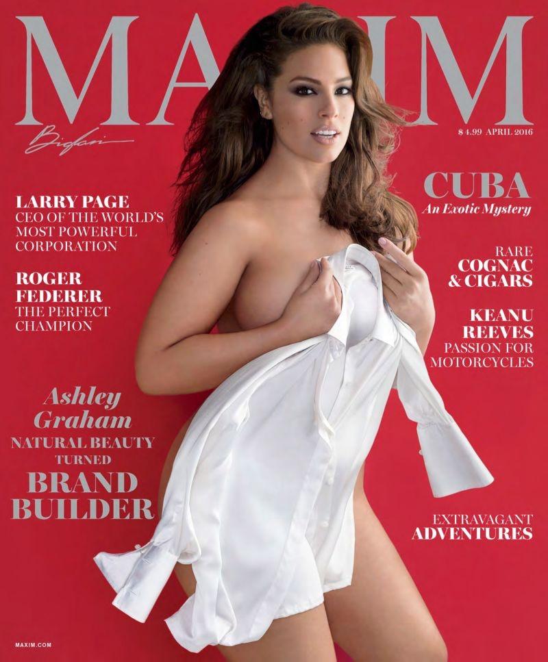 В моде нестандарт: plus-size модель Эшли Грэм появилась на обложке журнала Maxim!