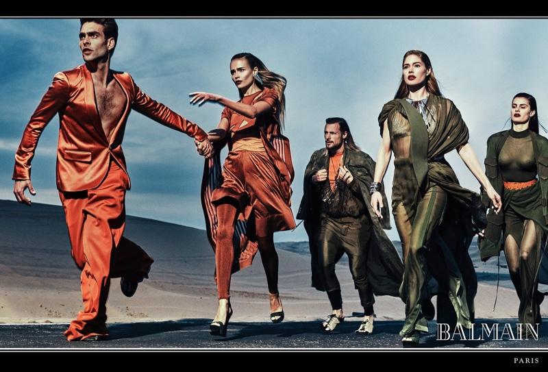 Даутцен Крус, Изабели Фонтана и Наташа Поли в новой рекламной кампании Balmain Даутцен Крус, Наташа Поли