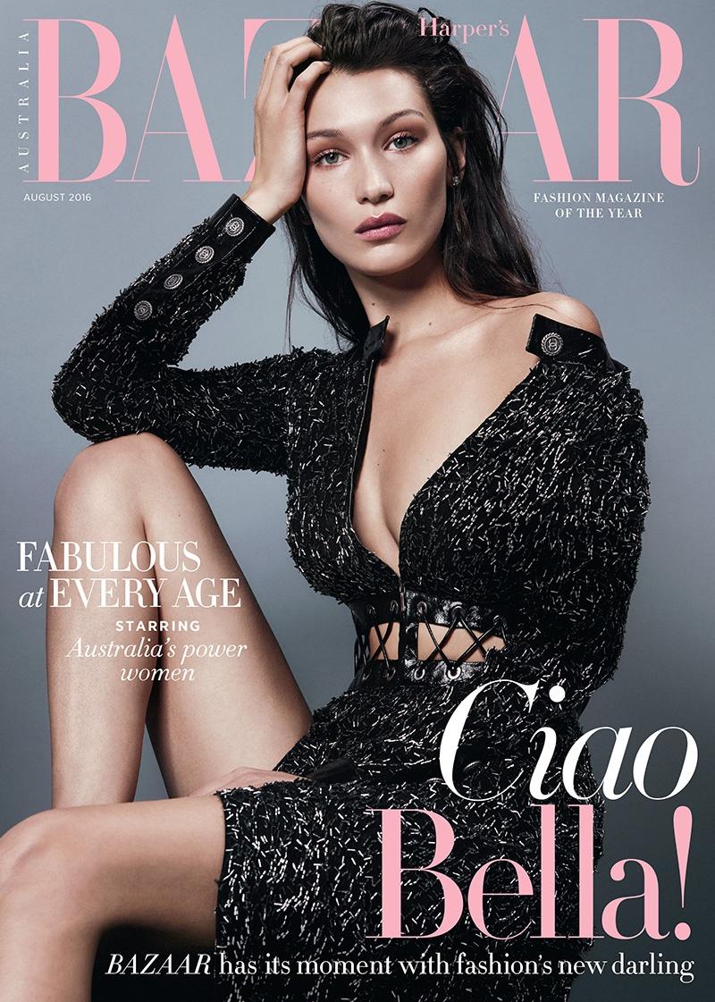 La mia bella: завораживающая Белла Хадид на обложке Harpers Bazaar Австралия