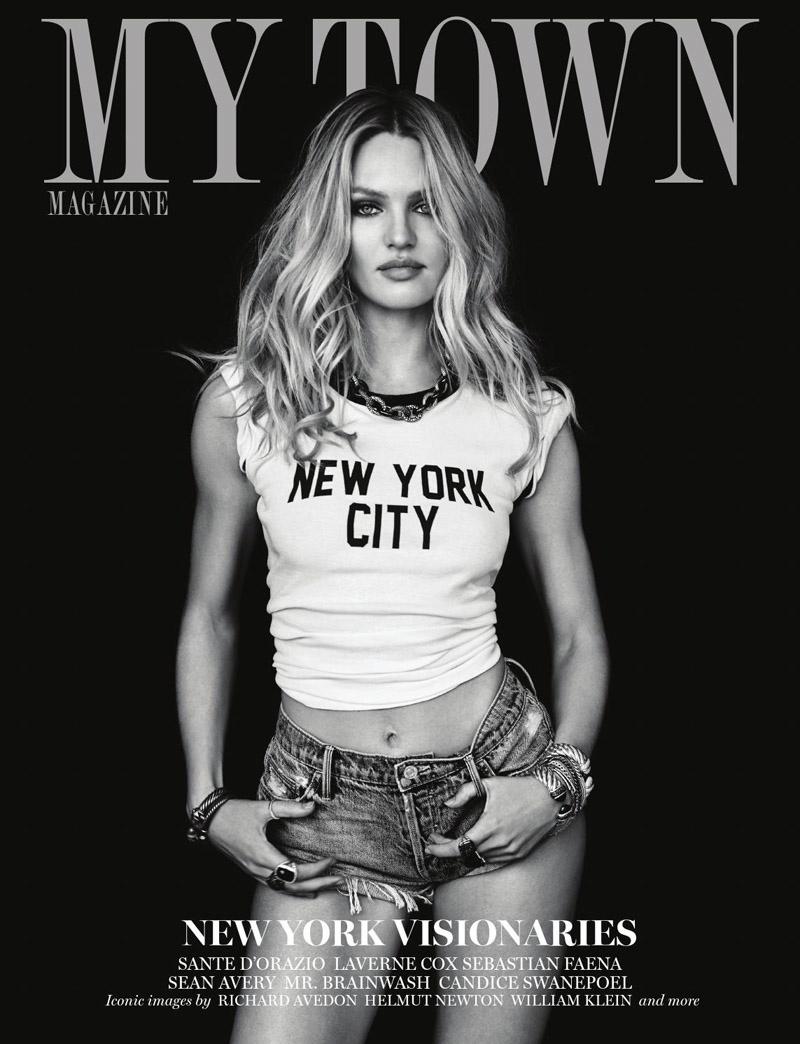 И снова обнажена: Кэндис Свейнпол в cover story журнала My Town Magazine