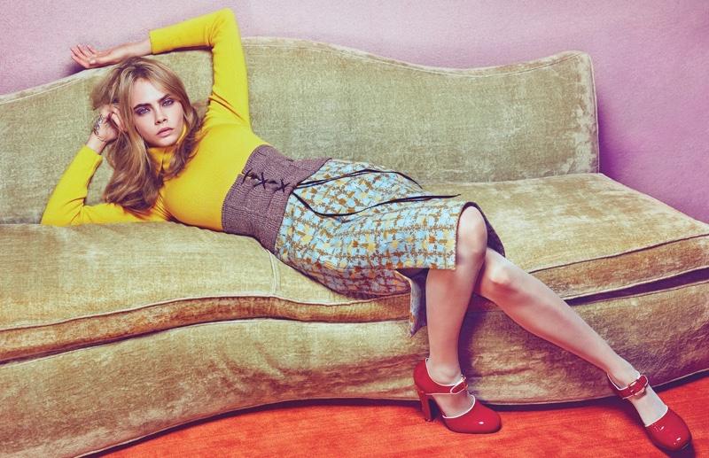 Из модели в актрису: новая фотосессия Кары Делевинь в W Magazine