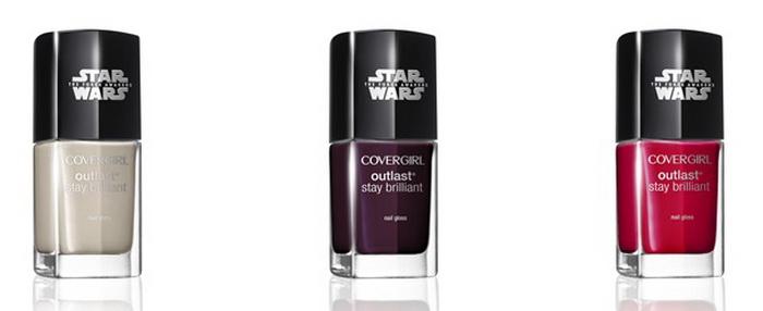 Лак для ногтей Covergirl Star Wars Nail Gloss в трех оттенках: