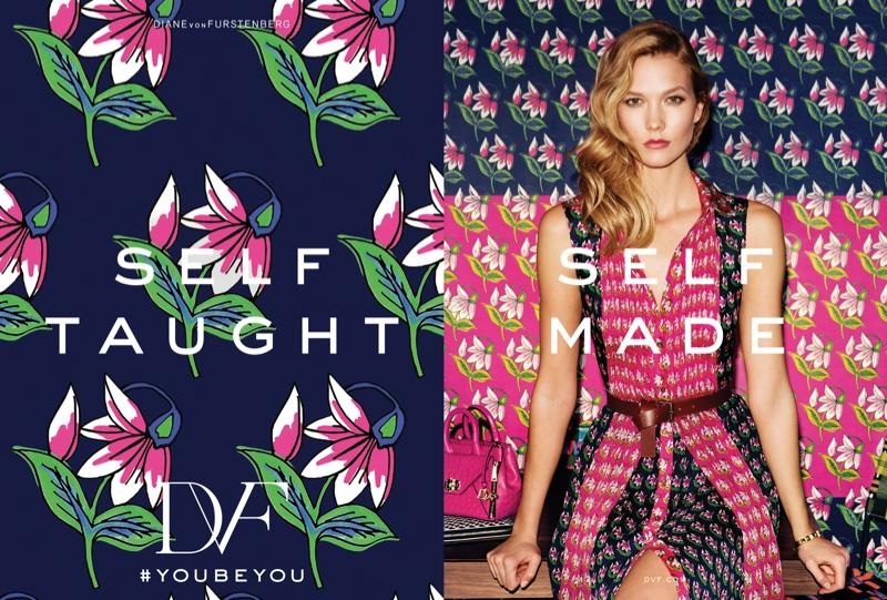 Будь собой! Карли Клосс в яркой рекламной кампании Diane Von Furstenberg весна-лето 2016