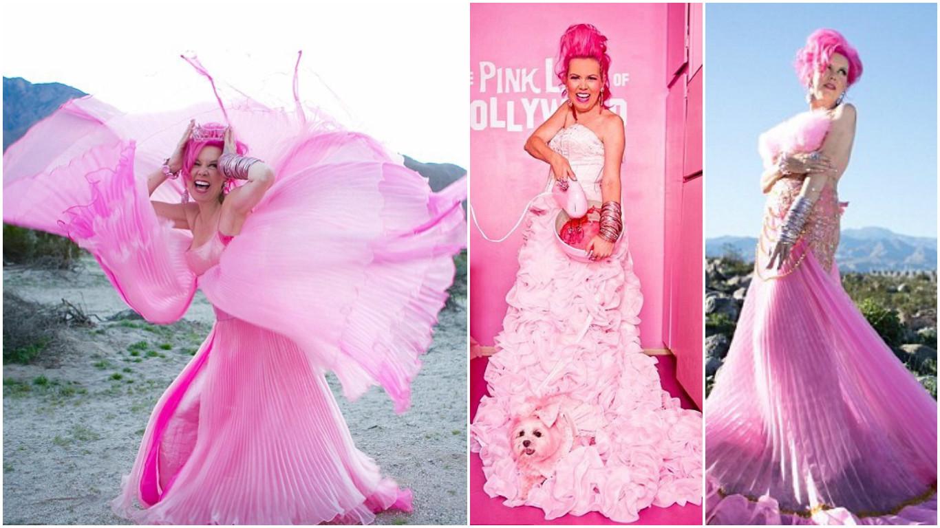 Фламинго следи голубей: 52-летняя американка потратила состояние на розовую одежду и розовый дом