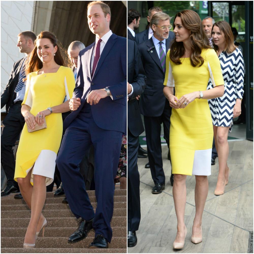 Похожа на банан? Кейт Миддлтон посетила Уимблдон в платье, над которым пошутил принц Уильям