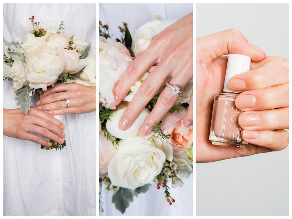 Свадебный маникюр: какого оттенка лак подобрать к букету
