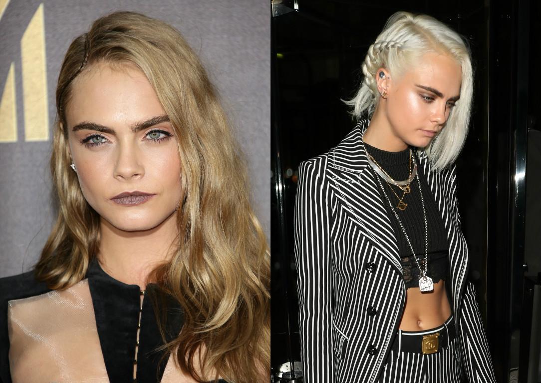 Перемены: Кара Делевинь постриглась стала пепельной блондинкой Кара Делевинь фото, Кара Делевинь новая стрижка
