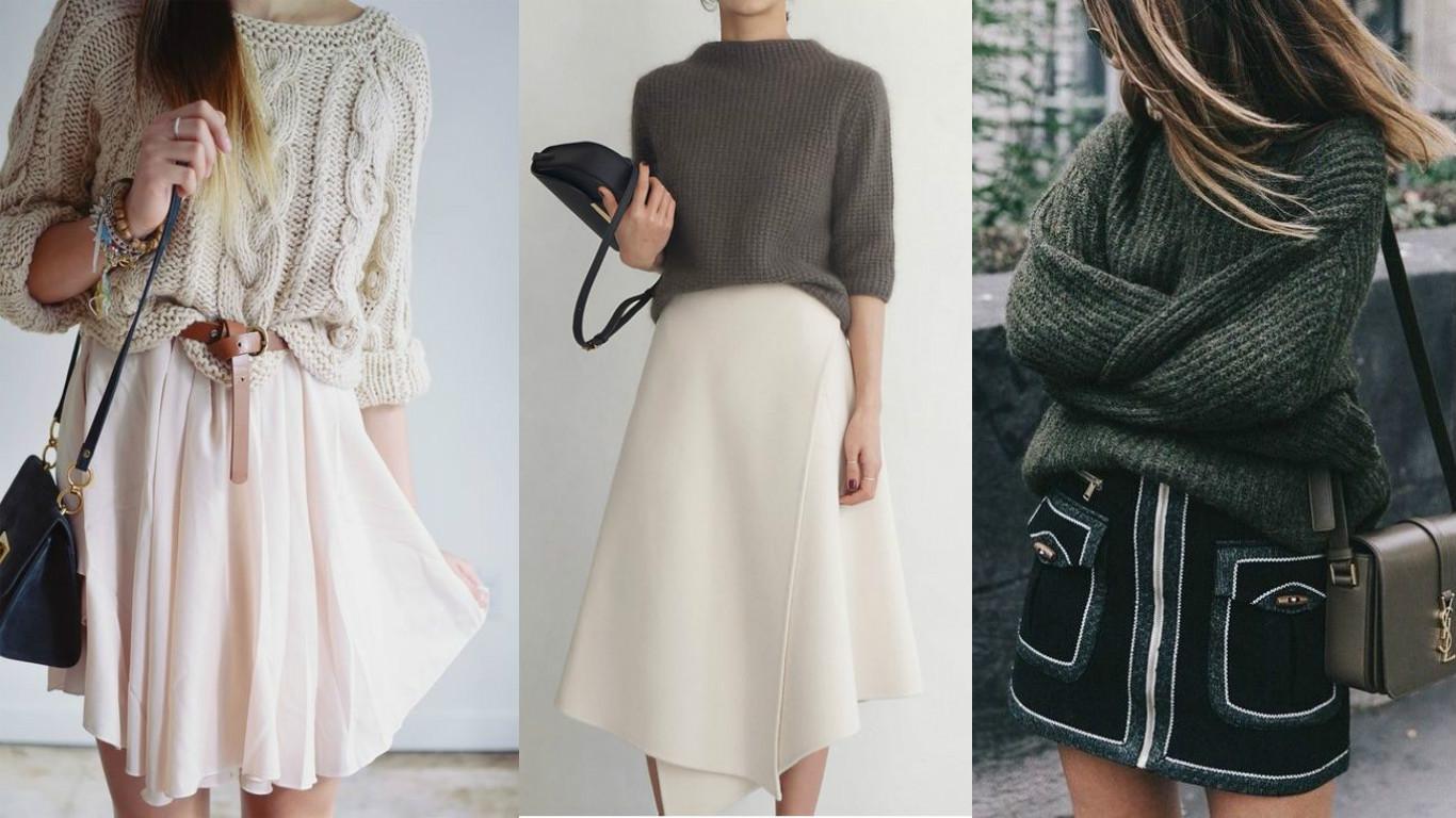 Осенние тренды 2016: Как сильно сочетать свитер с юбкой (ФОТО)