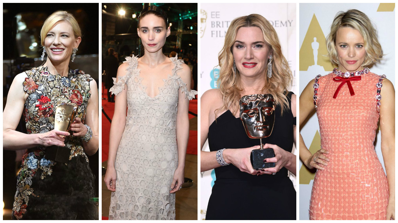 """Угадай, угадай: в каких платьях звезды появятся сегодня на """"Оскаре""""? фото"""
