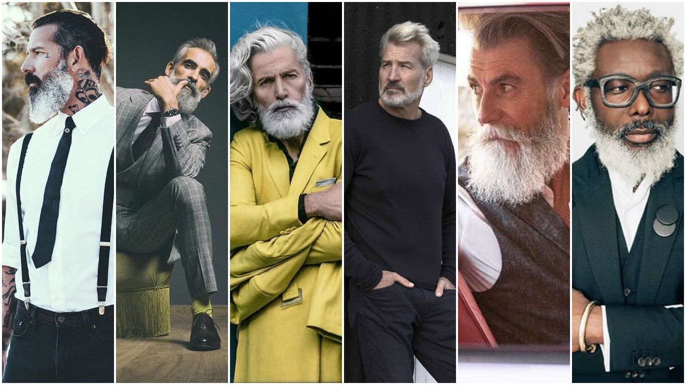Красивее молодых: мужчины старше 40, которые сведут вас с ума красивые мужчины, седые мужчины, седые красивые мужчины, седые модели, старые модели,