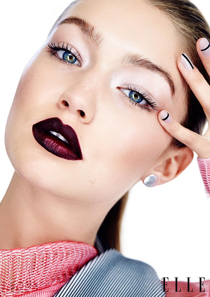 гармоничный бьюти-образ Джиджи Хадид в ноябрьском номере Elle Canada