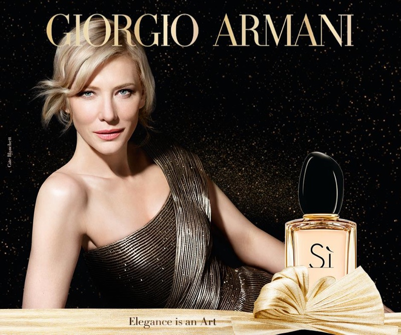 Золотая Леди: Кейт Бланшетт представляет лимитированный аромат Armani Si