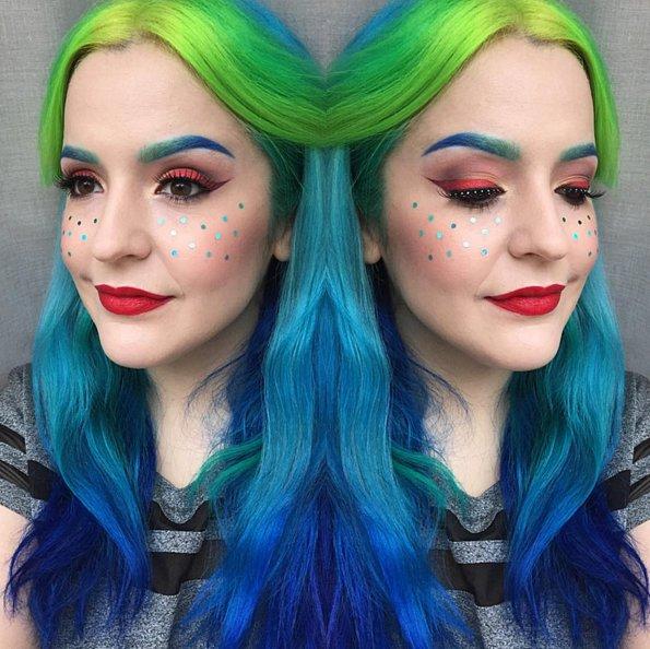 Девочки-блестяшки: блестки вместо веснушек - новый тренд в instagram